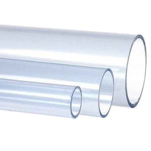 Tube PVC Pression transparent diamètre 63 mm - Longueur : 95 cm
