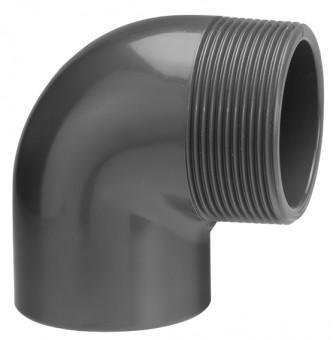 VDL Coude à 90° diamètre 50 mm avec filetage externe Mâle taille 11/4