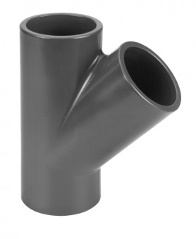 VDL Raccord PVC 45° en Y diamètre 63 mm
