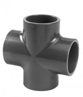 VDL Pièce PVC en croix diamètre 10 mm