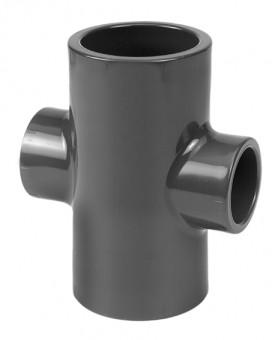 VDL Pièce PVC en croix diamètre 50 mm x 32 mm