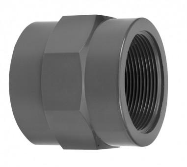 VDL Douilles de vissage en PVC diamètre 50 mm avec partie filetée taille 11/2 - Type A