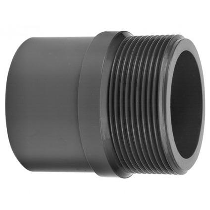 VDL Manchon fileté en PVC diamètre 40 mm x 50 mm avec partie filetée taille 11/2