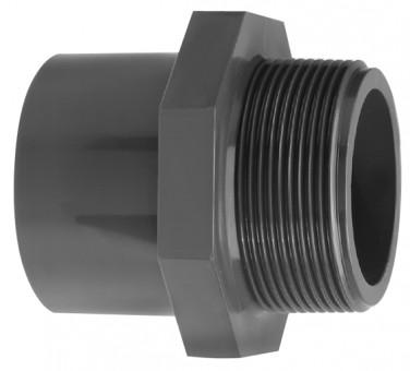 VDL Manchon filteté en PVC diamètre 25 mm avec partie filetée taille 1/2