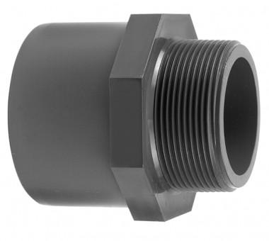 VDL Manchon filteté en PVC diamètre 50 x 63 mm avec partie filetée taille 11/4