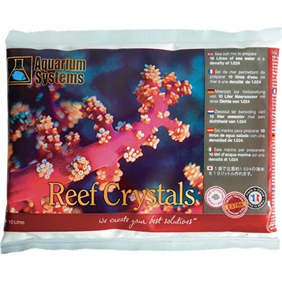 AQUARIUM SYSTEMS Reef Crystals 380 gr sel pour aquarium récifal avec coraux. Donne 10L d\'eau de mer