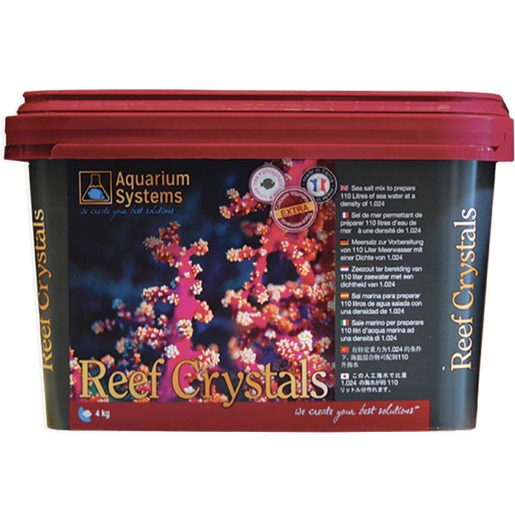 AQUARIUM SYSTEMS Reef Crystals 4 kg sel pour aquarium récifal avec coraux. Donne 120L d\'eau de mer