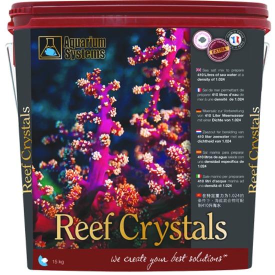 AQUARIUM SYSTEMS Reef Crystals 10 kg sel pour aquarium récifal avec coraux. Donne 300L d\'eau de mer