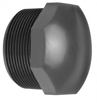 VDL Bouchon en PVC avec partie filetée taille 1/2