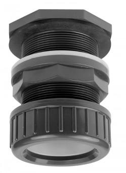 VDL Passe Paroi PVC avec écrou de serrage pour tube 20 mm et perçage 27 mm