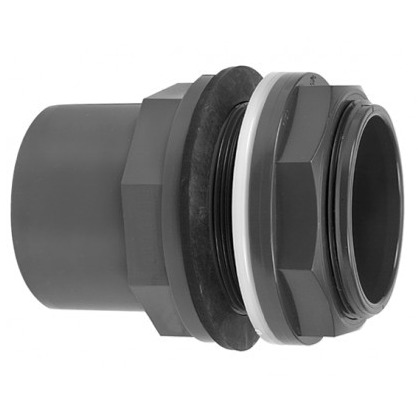 VDL Passe paroi PVC pour tubes 50 ou 63 mm et 50 mm ou raccord 2 en sortie