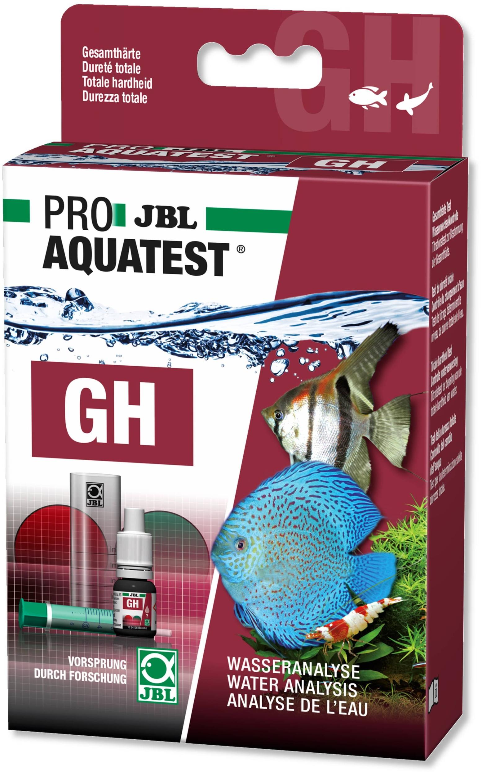 JBL ProAquaTest GH test dureté totale pour aquarium d\'eau douce et bassin