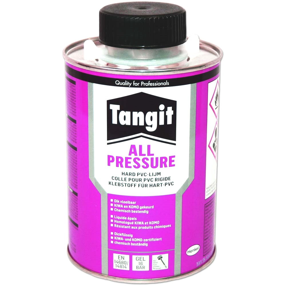 TANGIT Colle PVC-U All Pressure 500 ml pour assemblage PVC rigide