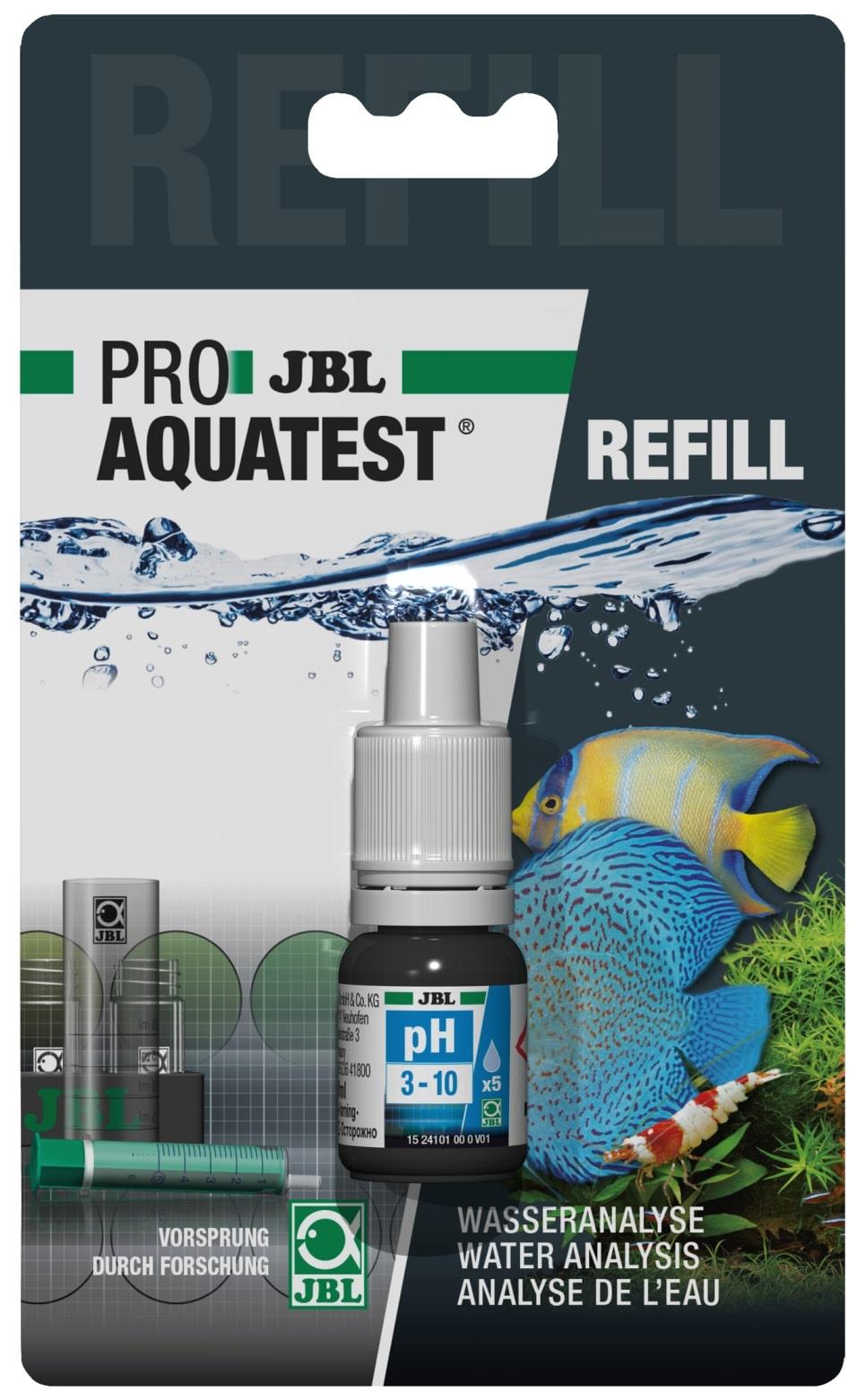 JBL Recharge ProAquaTest pH 3.10 à 10.0 pour nouveau et ancien kit de test