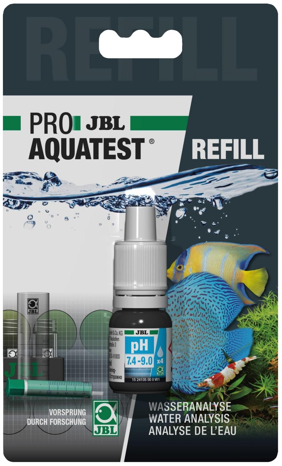 JBL Recharge ProAquaTest pH 7.4 à 9.0 pour nouveau et ancien kit de test