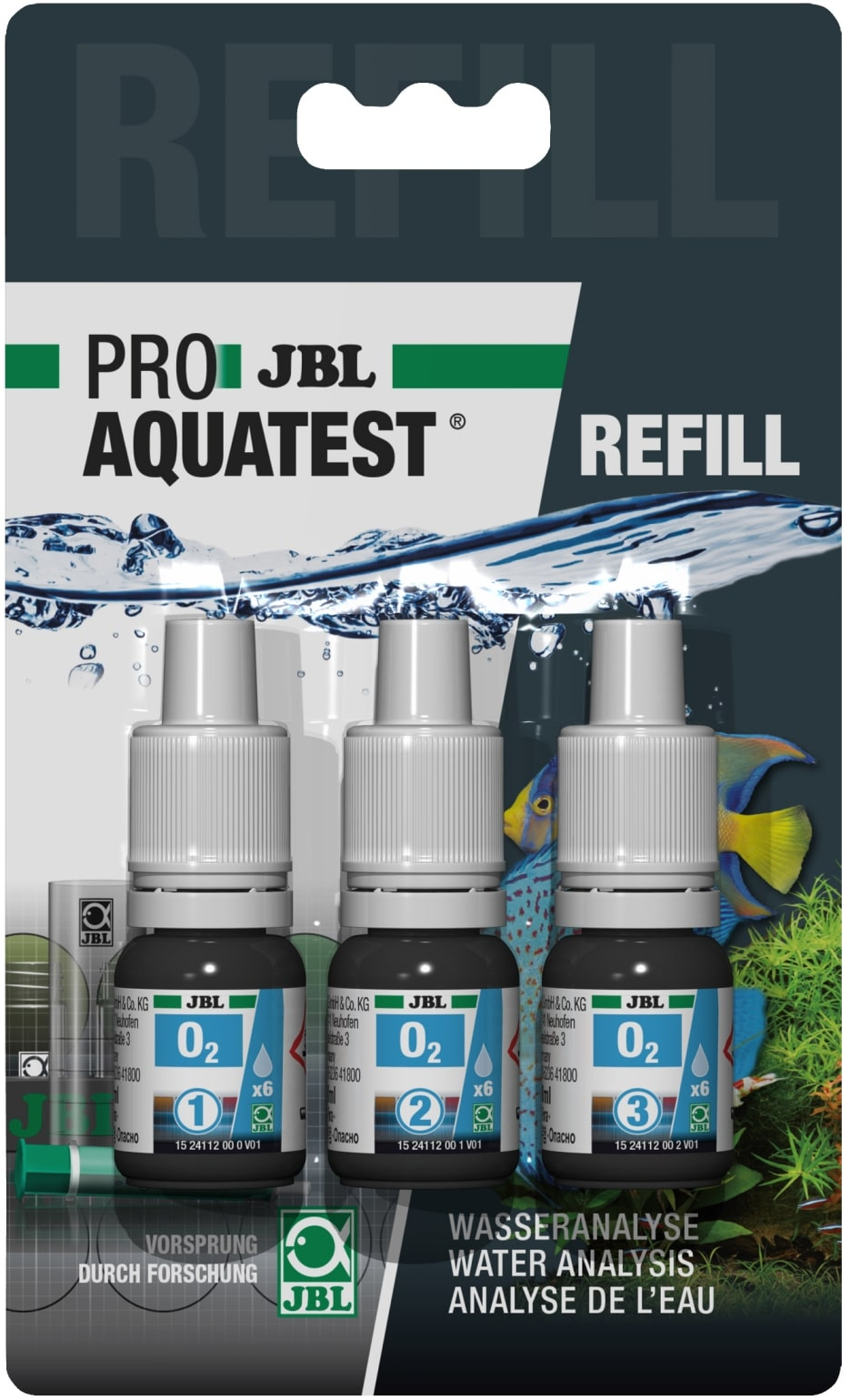 JBL Recharge ProAquaTest O2 pour nouveau et ancien kit de test Oxygène