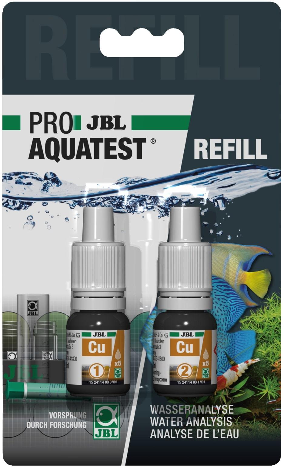 JBL Recharge ProAquaTest Cu pour nouveau et ancien kit de test Cuivre