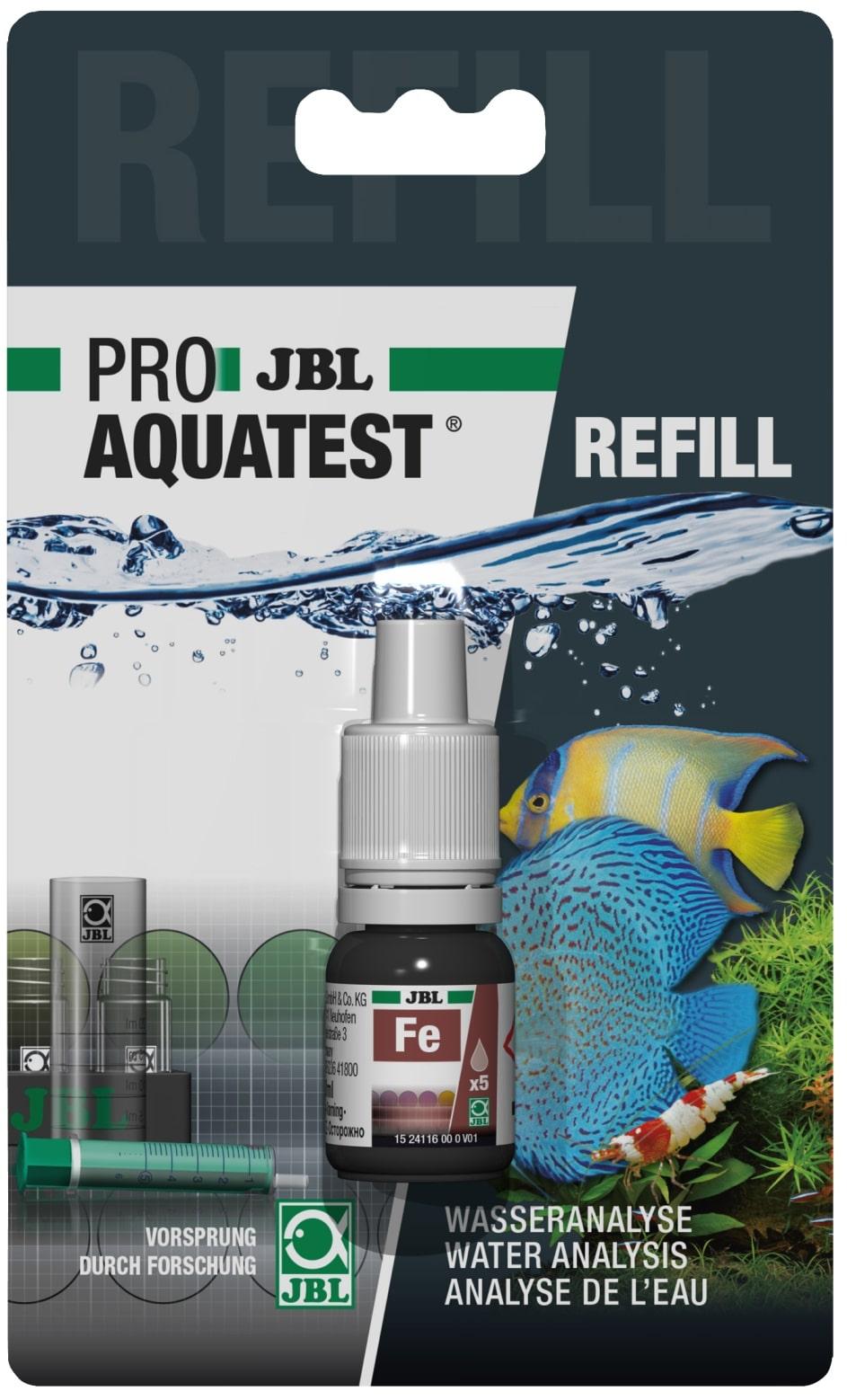 JBL Recharge ProAquaTest Fe pour nouveau et ancien kit de test Fer