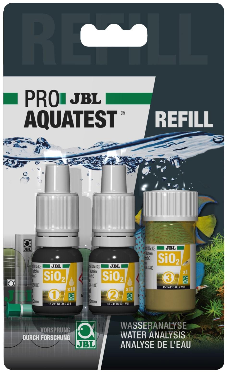 JBL Recharge ProAquaTest SiO2 pour nouveau et ancien kit de test Silicate