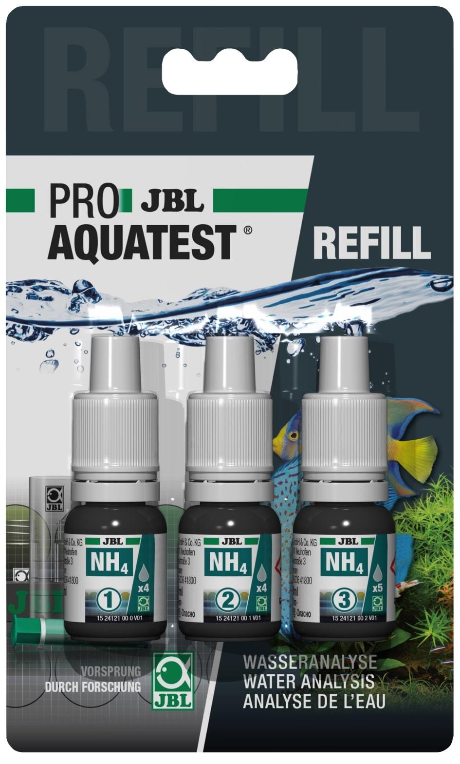 JBL Recharge ProAquaTest NH4 pour nouveau et ancien kit de test Ammonium/Ammoniaque