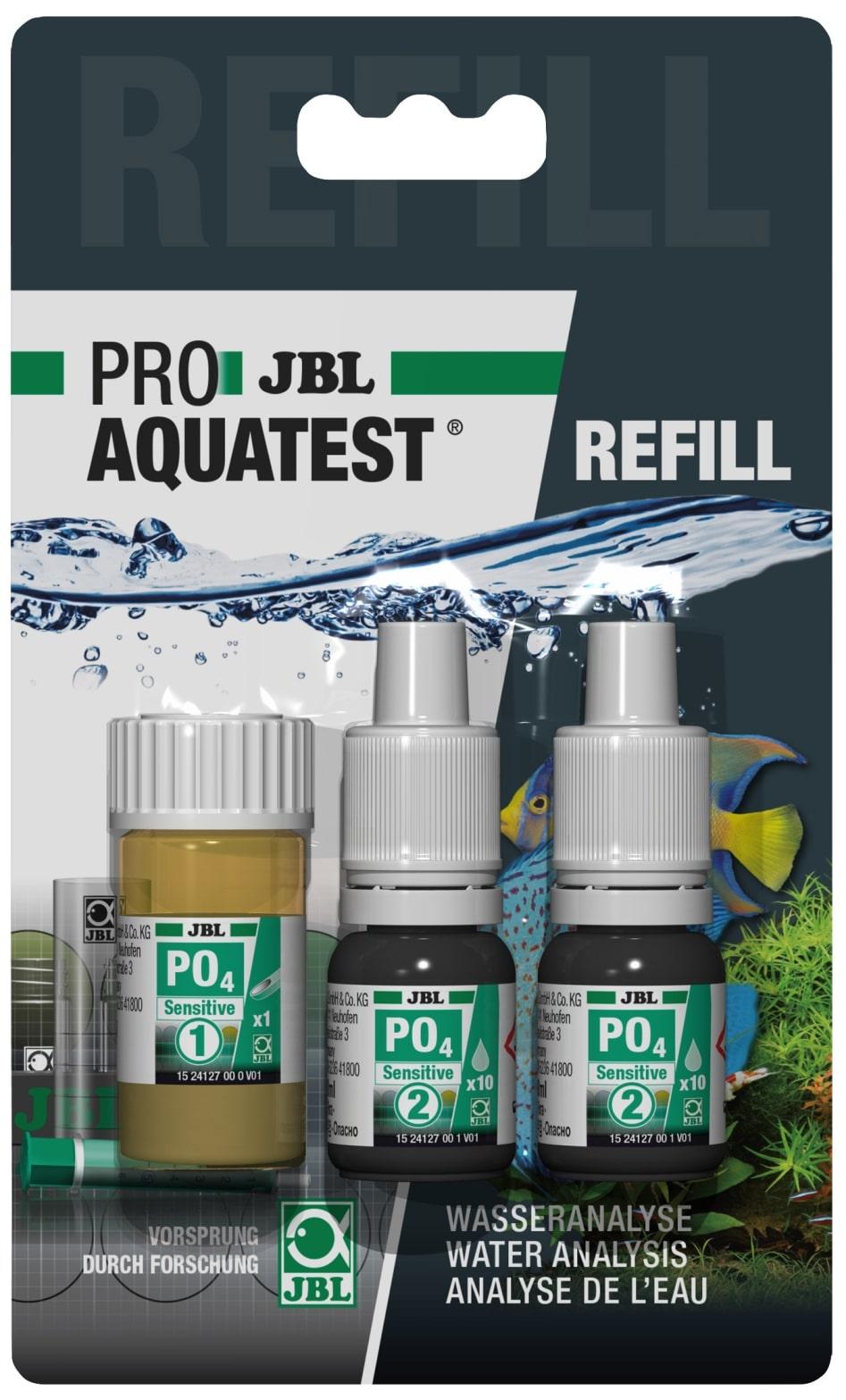 JBL Recharge ProAquaTest PO4 Sensitive pour nouveau et ancien kit de test Phosphate