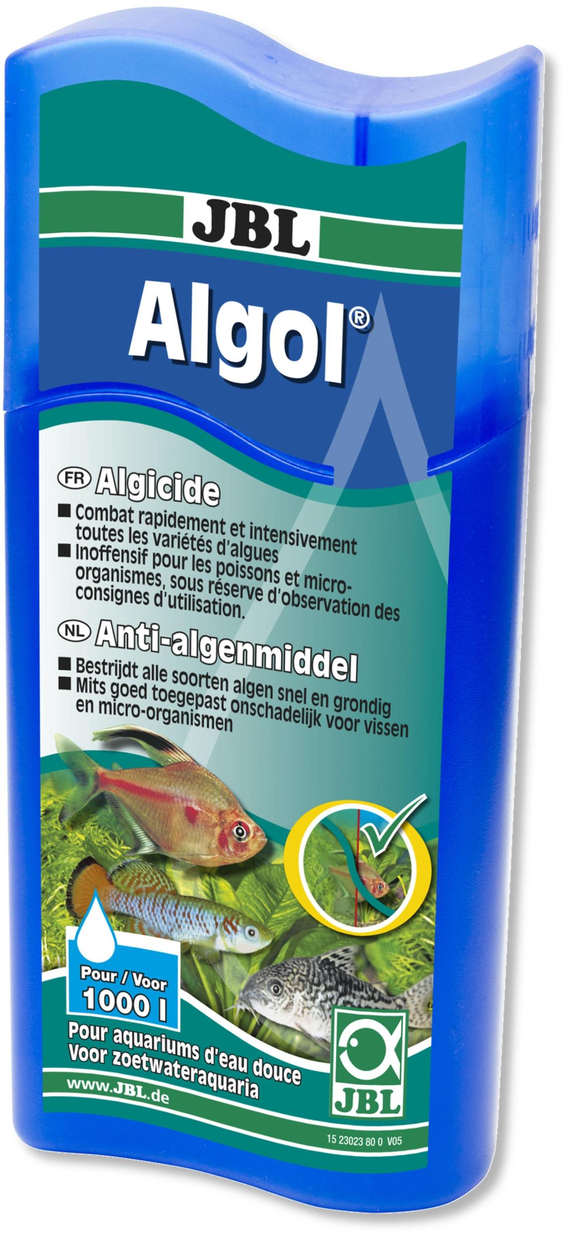 JBL Algol 250 ml résout et régule rapidement les problèmes d\'algues