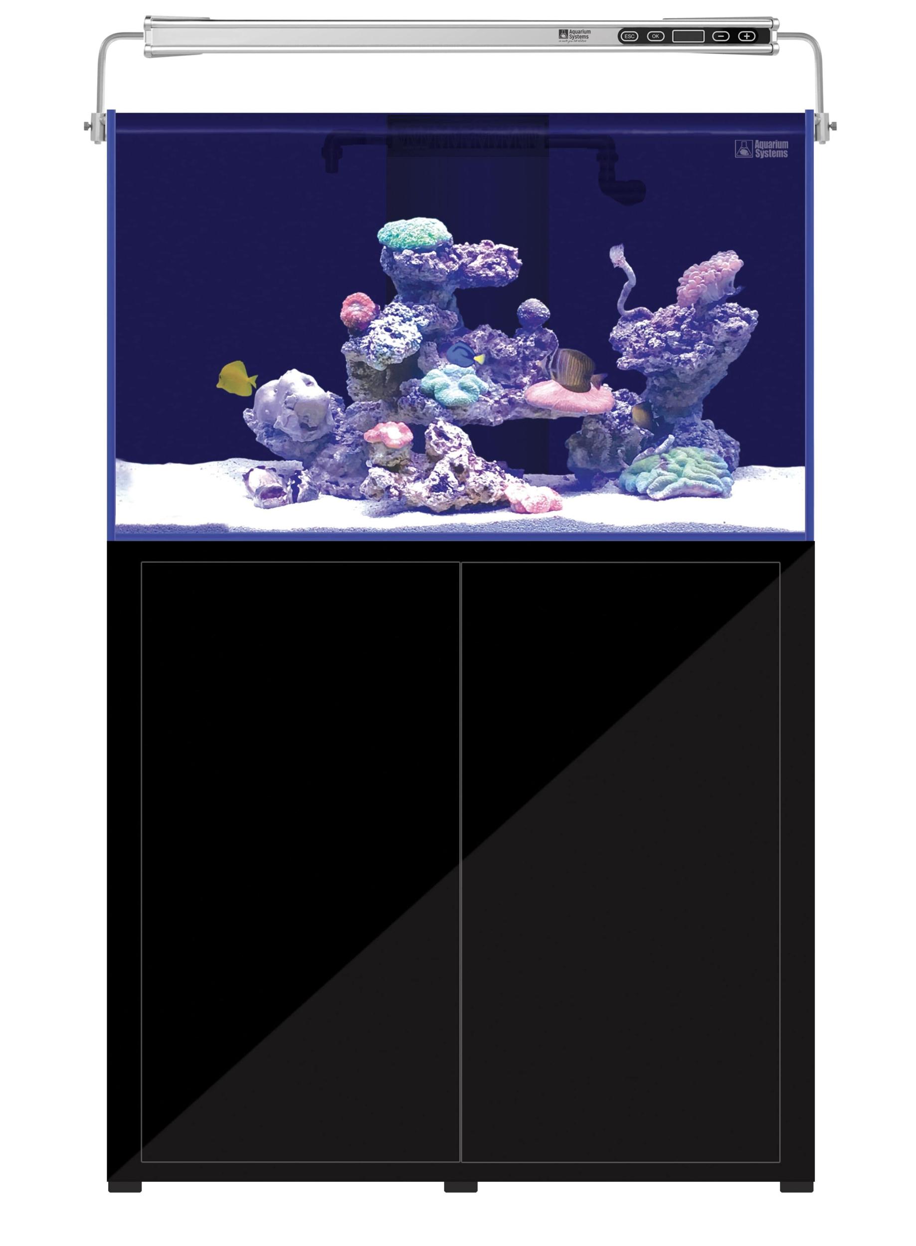 AQUARIUM SYSTEMS L\'Aquarium 370 Noir version 2.0 combinaison aquarium 242 L et meuble