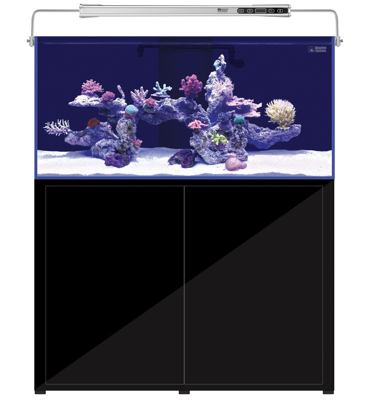 AQUARIUM SYSTEMS L\'Aquarium 570 Noir version 2.0 combinaison aquarium 375 L et meuble