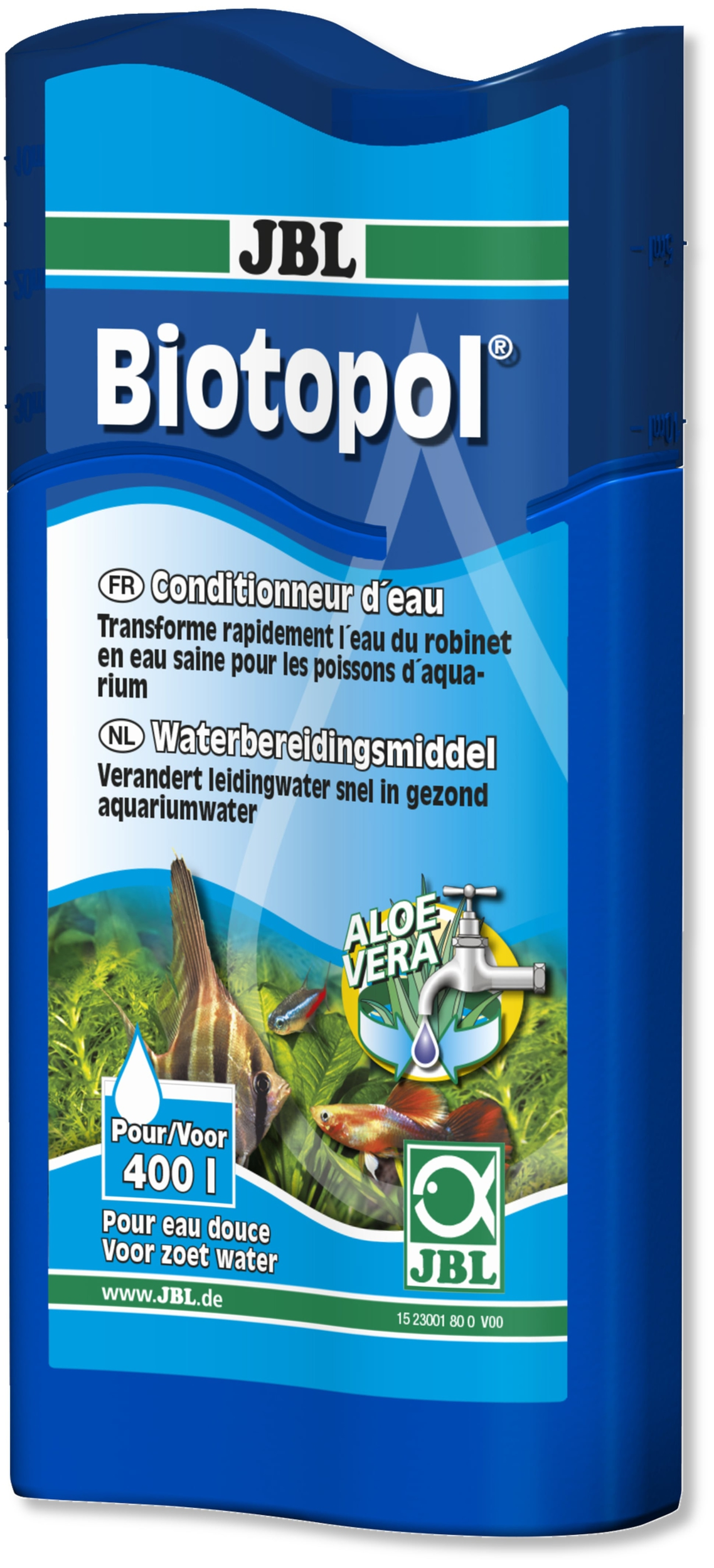 JBL Biotopol 100 ml conditionne l\'eau de votre aquarium d\'eau douce