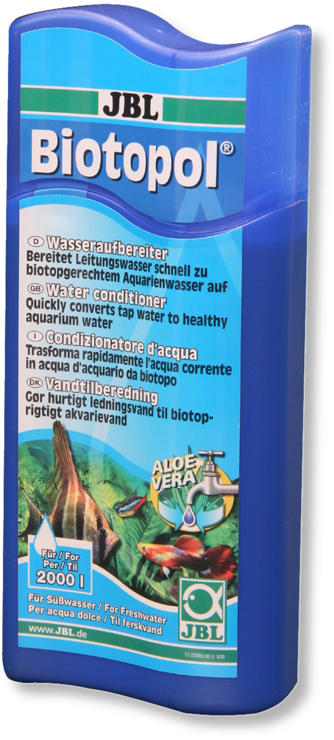 JBL Biotopol 500 ml conditionne l\'eau de votre aquarium d\'eau douce
