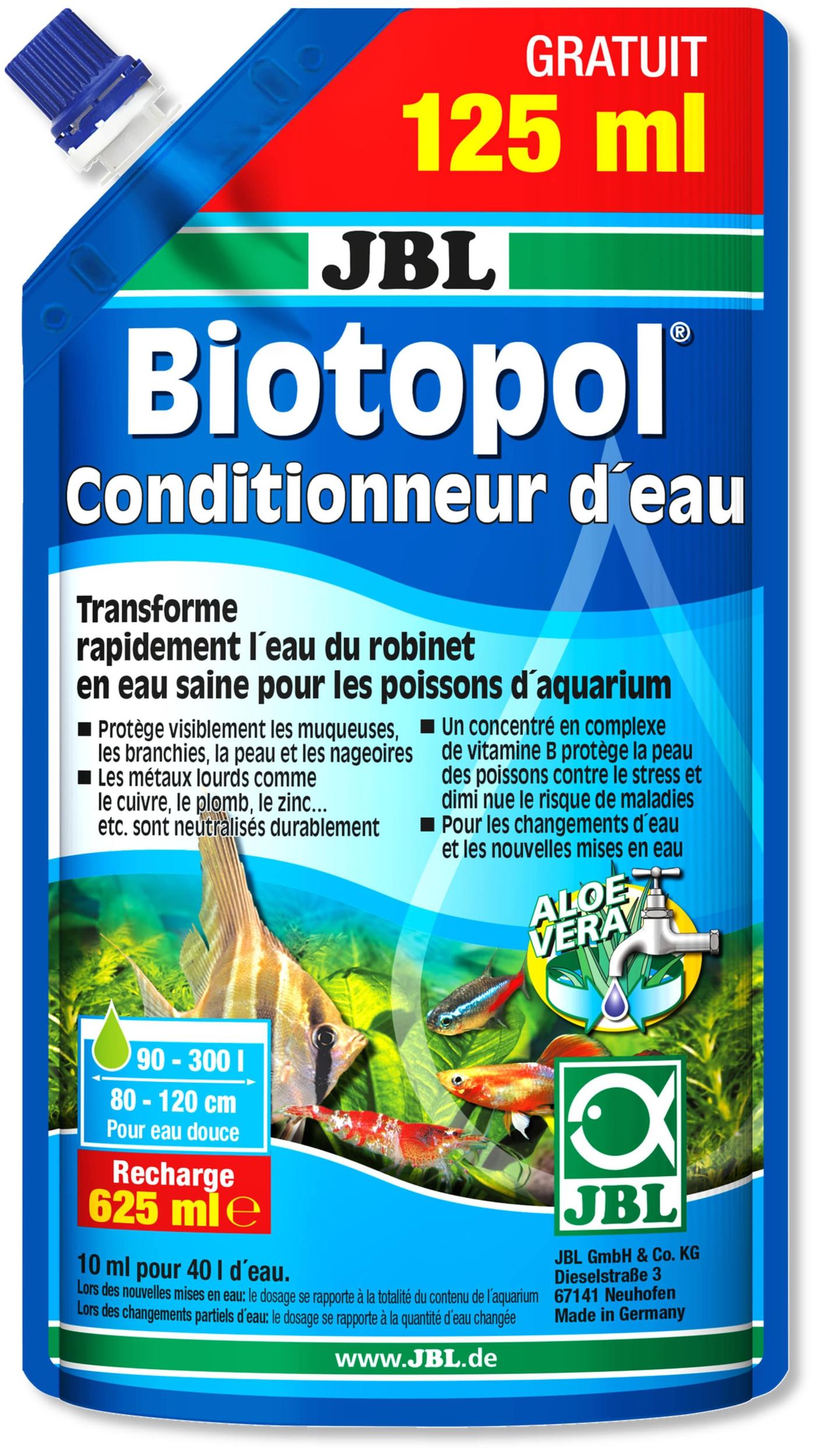 JBL Biotopol Recharge 500ml + 125ml GRATUIT conditionne l\'eau de votre aquarium d\'eau douce