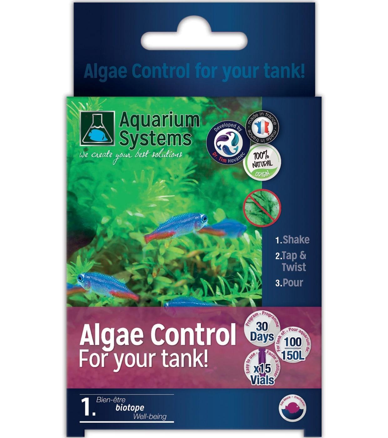 AQUARIUM SYSTEMS Algae-Control Eau Douce programme Unidoses anti-algues biologique sur 30 jours