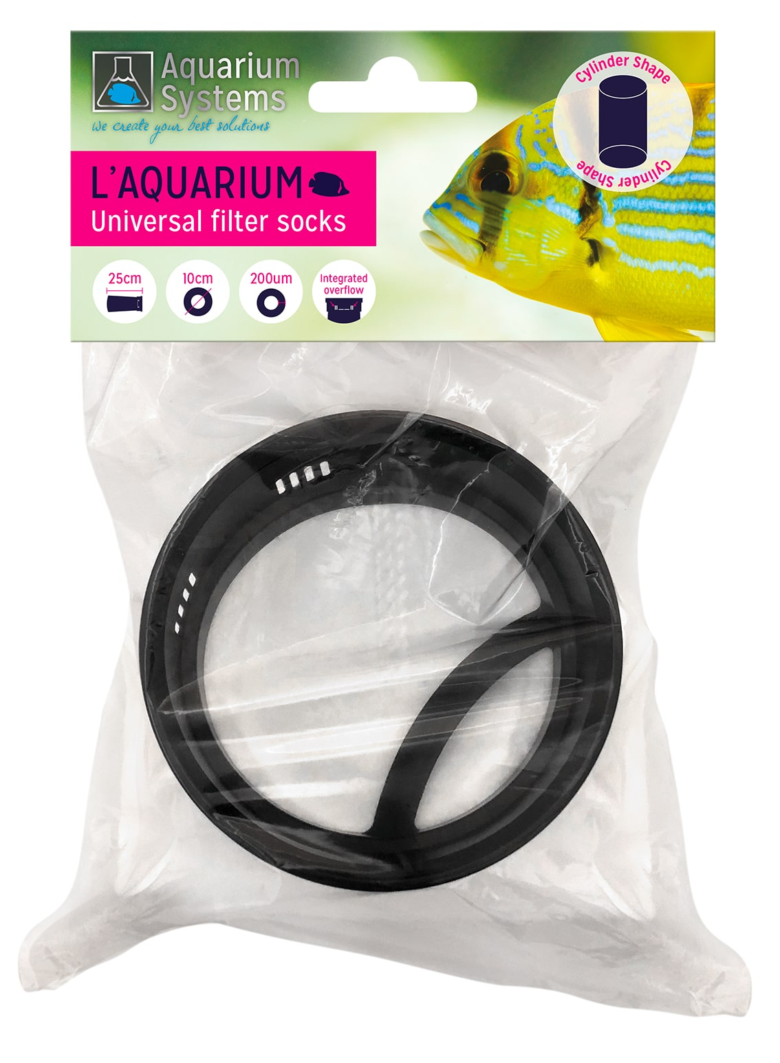 AQUARIUM SYSTEMS Universal Filter Bag 200 microns diamètre 10 cm