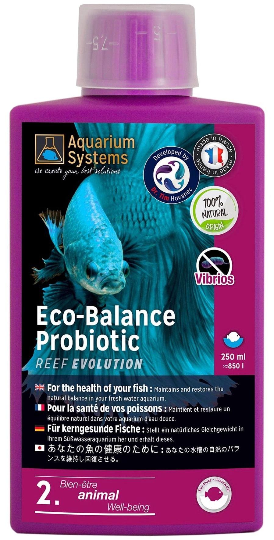 AQUARIUM SYSTEMS Eco-Balance Probiotic Eau Douce 250 ml bactéries probiotiques pour maintenir et restaurer l\'équilibre de l\'aquarium