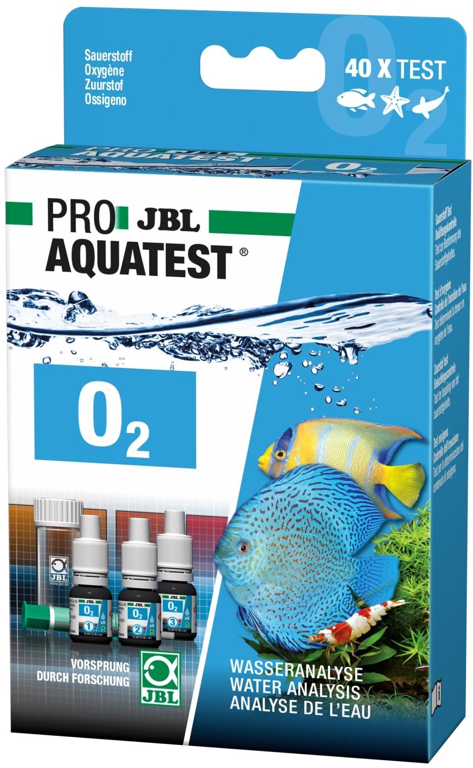 JBL ProAquaTest O2 test Oxygène pour aquarium d\'eau douce, eau de mer et bassin