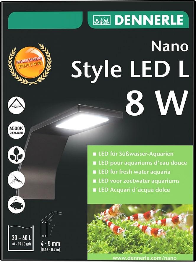 DENNERLE Nano Style LED L 8W éclairage 1000 Lumens pour nano-aquarium de 30 à 60L