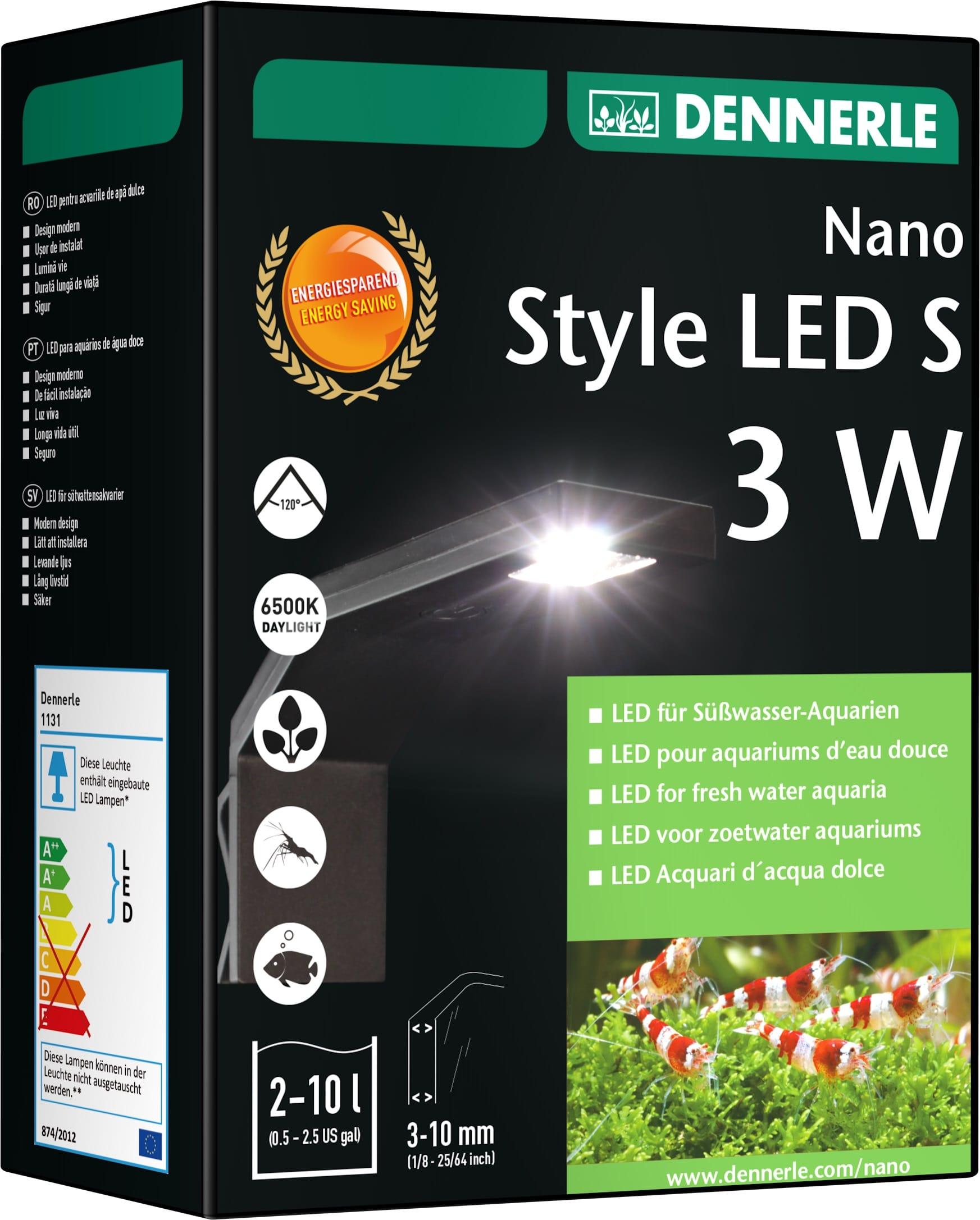 DENNERLE Nano Style LED S 3W éclairage 100 Lumens pour nano-aquarium de 2 à 10L