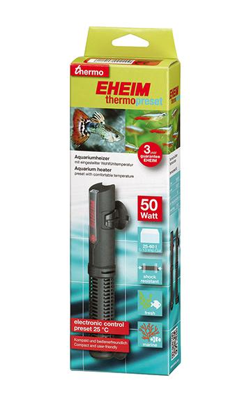 EHEIM thermopreset 50 chauffage 50W préréglé à 25°C pour aquarium de 25 à 60 L