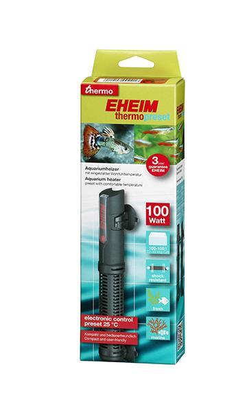 EHEIM thermopreset 100 chauffage 100W préréglé à 25°C pour aquarium de 100 à 150 L