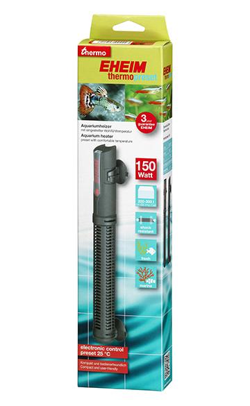 EHEIM thermopreset 150 chauffage 150W préréglé à 25°C pour aquarium de 200 à 300 L