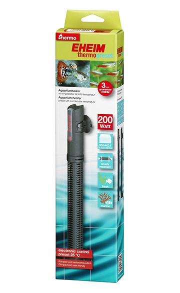 EHEIM thermopreset 200 chauffage 200W préréglé à 25°C pour aquarium de 300 à 400 L