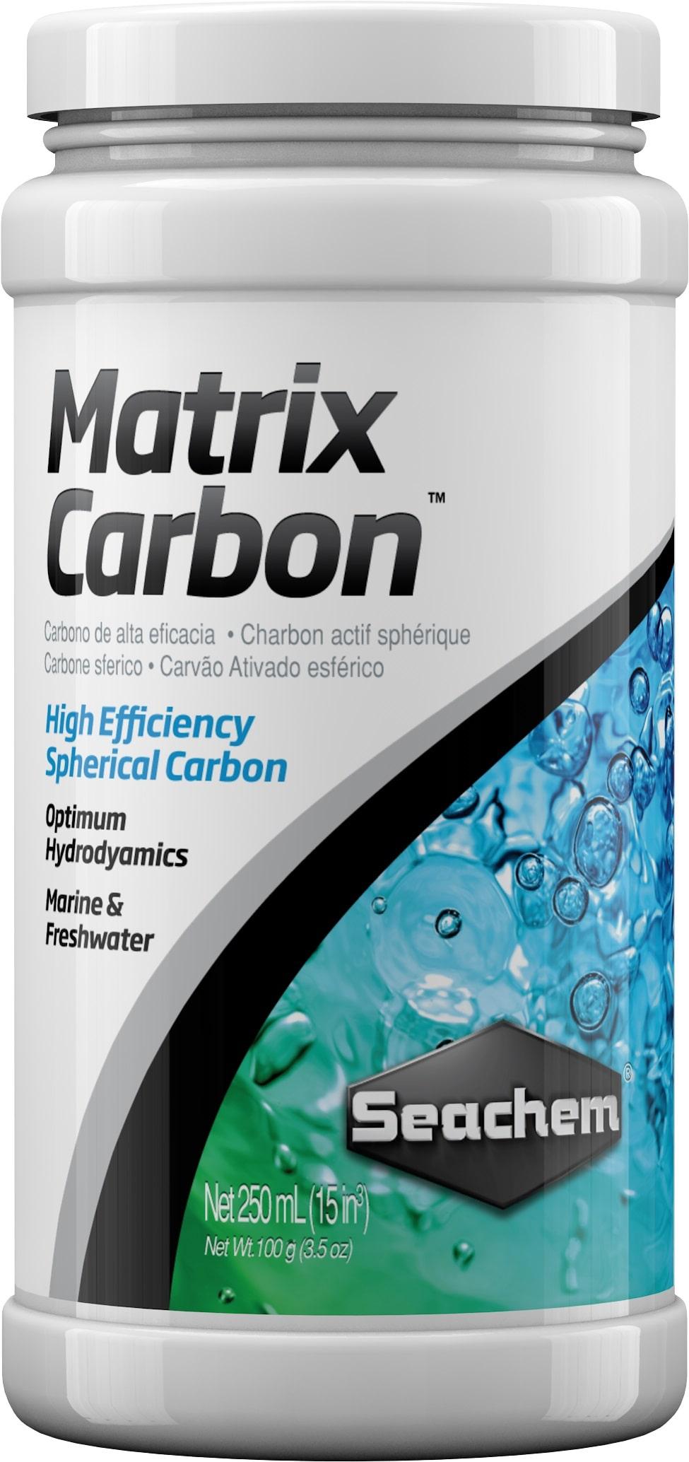 SEACHEM MatrixCarbon 250 ml charbon actif sous forme de billes pour l\'élimination des substances toxiques en aquarium
