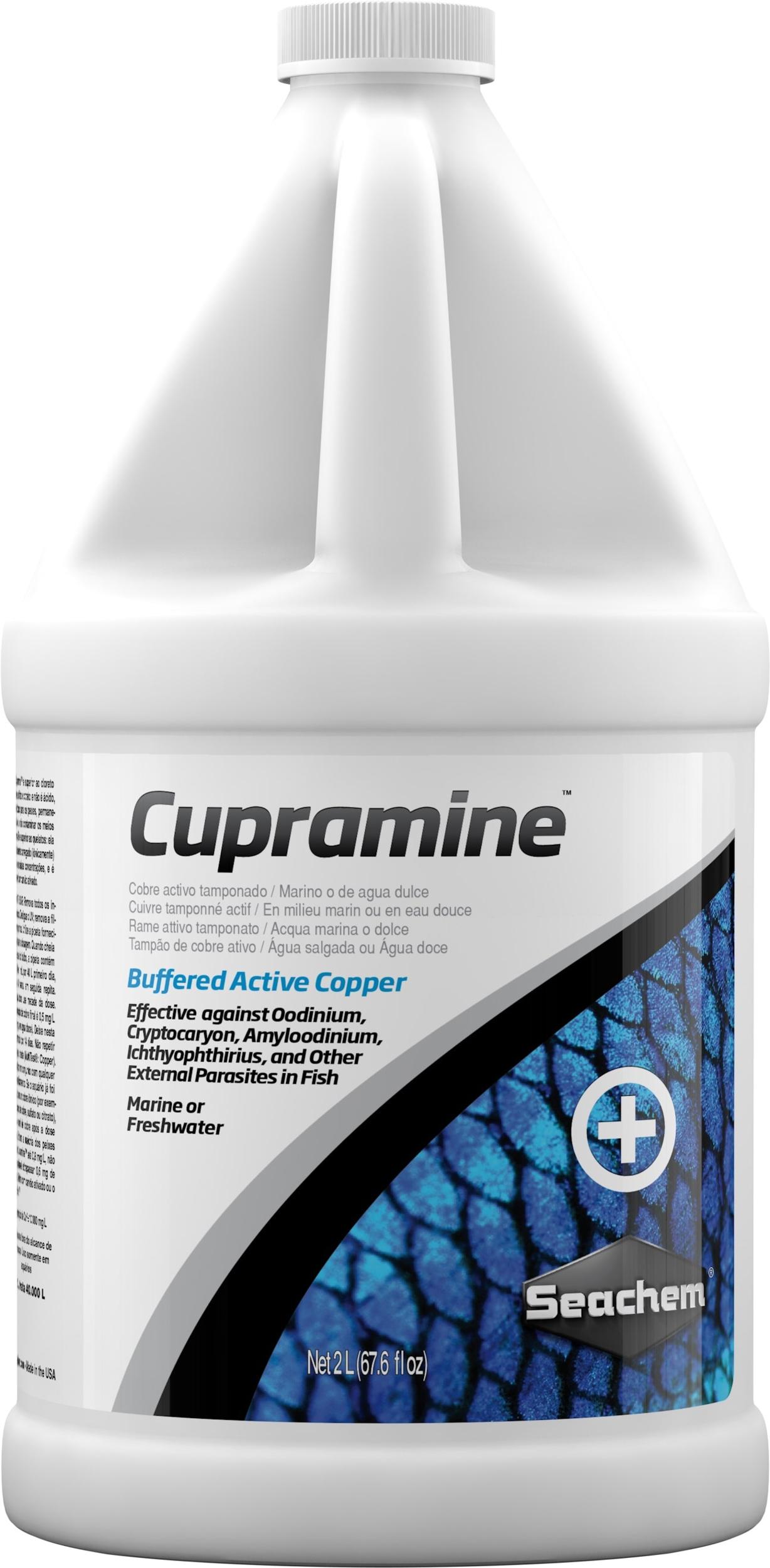 SEACHEM Cupramine 2 L traitement au cuivre actif contre les parasites externes