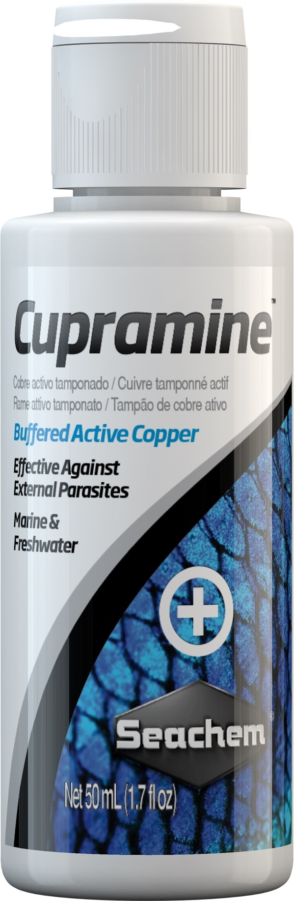 SEACHEM Cupramine 50 ml traitement au cuivre actif contre les parasites externes