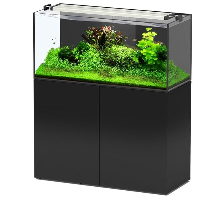 AQUATLANTIS AquaView 120 Eau Douce aquarium 330 L avec meuble Noir
