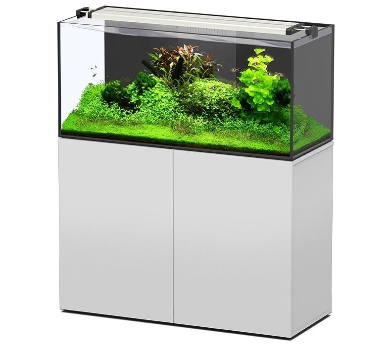 AQUATLANTIS AquaView 120 Eau Douce aquarium 330 L avec meuble Blanc