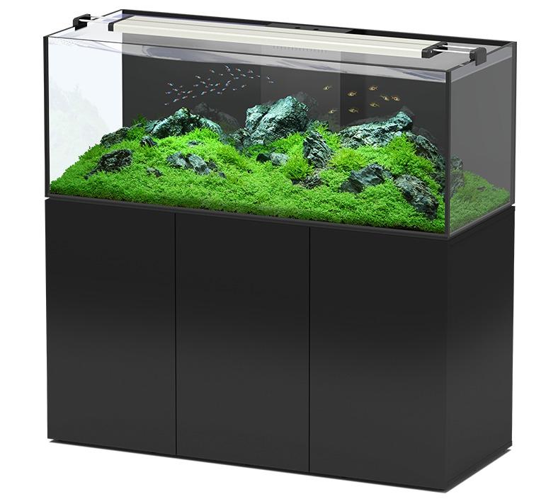AQUATLANTIS AquaView 150 Eau Douce aquarium 495 L avec meuble Noir