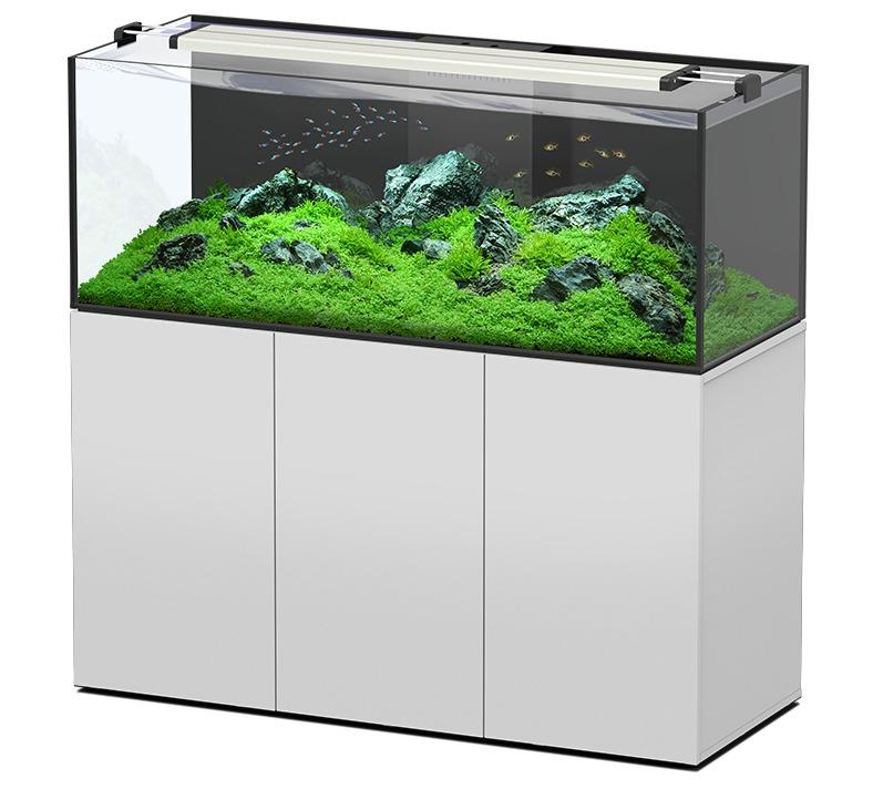 AQUATLANTIS AquaView 150 Eau Douce aquarium 495 L avec meuble Blanc