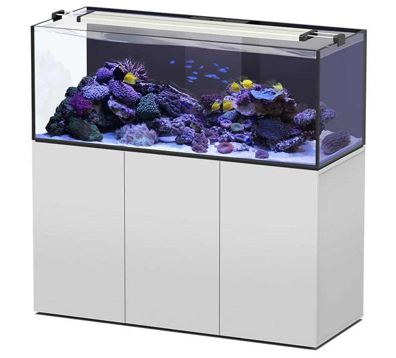 AQUATLANTIS AquaView 150 Eau de Mer aquarium 495 L avec meuble Blanc