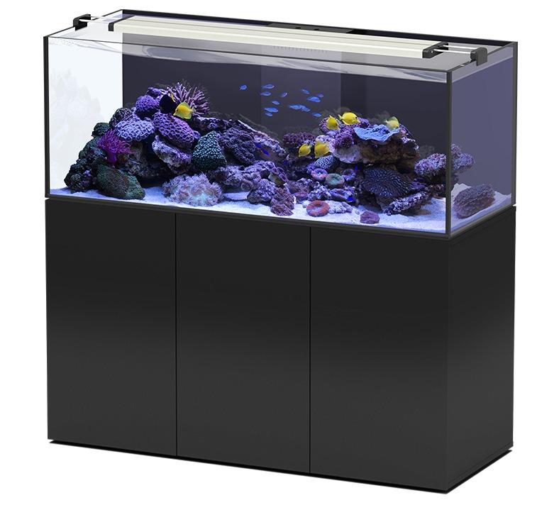 AQUATLANTIS AquaView 150 Eau de Mer aquarium 495 L avec meuble Noir